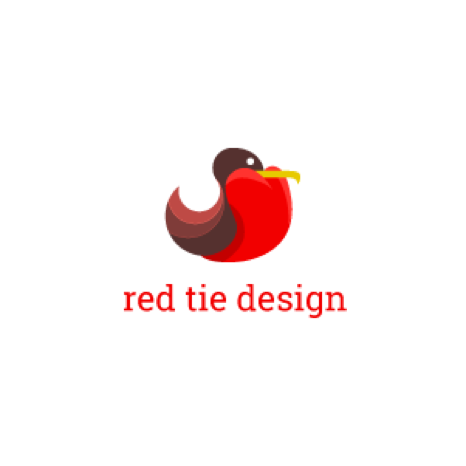 red tie design logo
